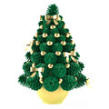 Christmas toy tree made of cones with gold toys see my other works in portfolio Royalty Free Stock Image