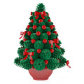 Christmas toy tree made of cones with red toys see my other works in portfolio Royalty Free Stock Images