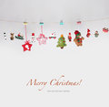 Christmas toys garland background Royalty Free Stock Photography