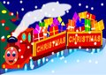 Christmas Train Royalty Free Stock Images