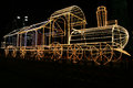 Christmas train a big for the celebrations at pompeii in italy Stock Photos
