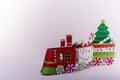 Christmas train ornaments Royalty Free Stock Photo