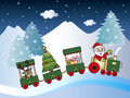 Christmas train with santa claus Royalty Free Stock Photography