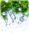Christmas treble clef Royalty Free Stock Photo