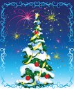 Christmas tree on abstract background Royalty Free Stock Image