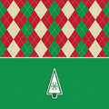 Christmas tree argyle pattern background Royalty Free Stock Photography