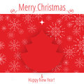 Christmas tree background with copy space eps file contains transparency effects in gradients Royalty Free Stock Image