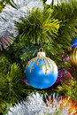 Christmas Tree background with toys Stock Photos