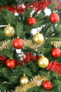Christmas tree background upclose Royalty Free Stock Photography