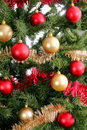 Christmas tree background upclose shiny Royalty Free Stock Images