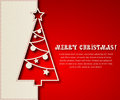 Christmas tree background vector illustration paper eps Stock Images