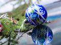 Christmas-tree balls. Royalty Free Stock Photo