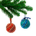 Christmas tree and balls Stock Image