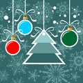 Christmas tree and balls Royalty Free Stock Image