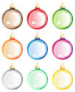 Christmas tree balls set. Royalty Free Stock Photography