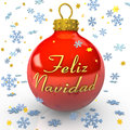 Christmas Tree Bauble - Feliz Navidad Stock Photos