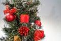 Christmas tree a beautifully decorated Stock Photo