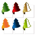 Christmas tree bent tape illustration Royalty Free Stock Images
