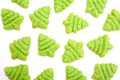 Christmas tree biscuits Stock Image