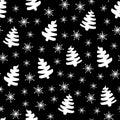 Christmas tree black-white