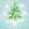 Christmas tree  on a blue Royalty Free Stock Images