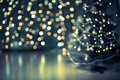 Christmas tree bokeh background Stock Image