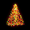 Christmas tree bokeh ligh Stock Photography
