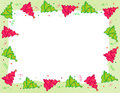 Christmas Tree border Royalty Free Stock Photos