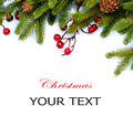 Christmas Tree Border Design Stock Images