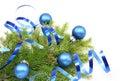 Vianočný stromček vetva a modrý stuha