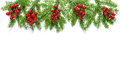 Christmas tree branches Holidays decoration banner Royalty Free Stock Photo