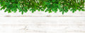 Christmas tree branches on wooden background banner Royalty Free Stock Photo