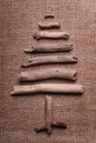 Christmas Tree On Burlap