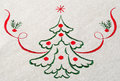 Christmas tree on canvas Royalty Free Stock Photo