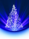 Christmas tree card. EPS 8 Royalty Free Stock Image
