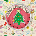 Christmas tree card pattern Royalty Free Stock Image