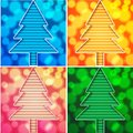 Christmas tree cards Royalty Free Stock Photo