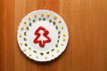 Christmas tree of catsup on a plate Stock Images