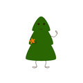 Christmas tree character with star