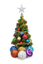Christmas tree&christmas balls-1 Royalty Free Stock Photos