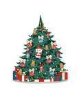 Christmas tree with Christmas toys Royalty Free Stock Photo