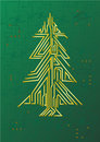 Christmas Tree Circuit Stock Images