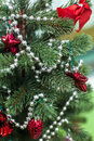 Christmas Tree Closeup With Re...