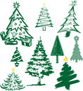 Christmas tree collection of symbols and icons Stock Photography