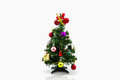 Christmas tree with colorful ornaments. Royalty Free Stock Photo