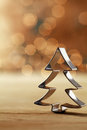 Christmas tree cookie cutter decoration Royalty Free Stock Photo