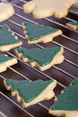 Christmas tree cookies Royalty Free Stock Photography