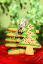 Christmas tree cookies Royalty Free Stock Images