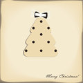 Christmas tree with cute bow Royalty Free Stock Photography