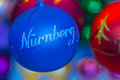Christmas tree decoration-bouble Nuremberg (Nuernberg)-Germany Royalty Free Stock Photo